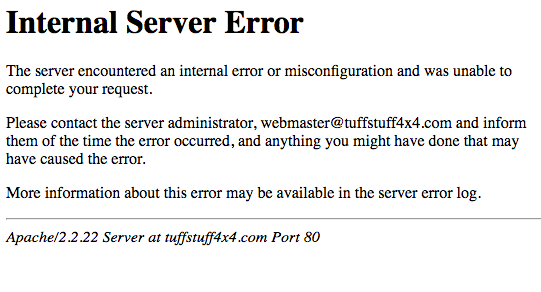 Oh, 500 Server Error…. How I Hate Thee